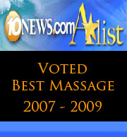 San Diegos Best Massage - Voted Best Massage San Diego 2007 - 2009